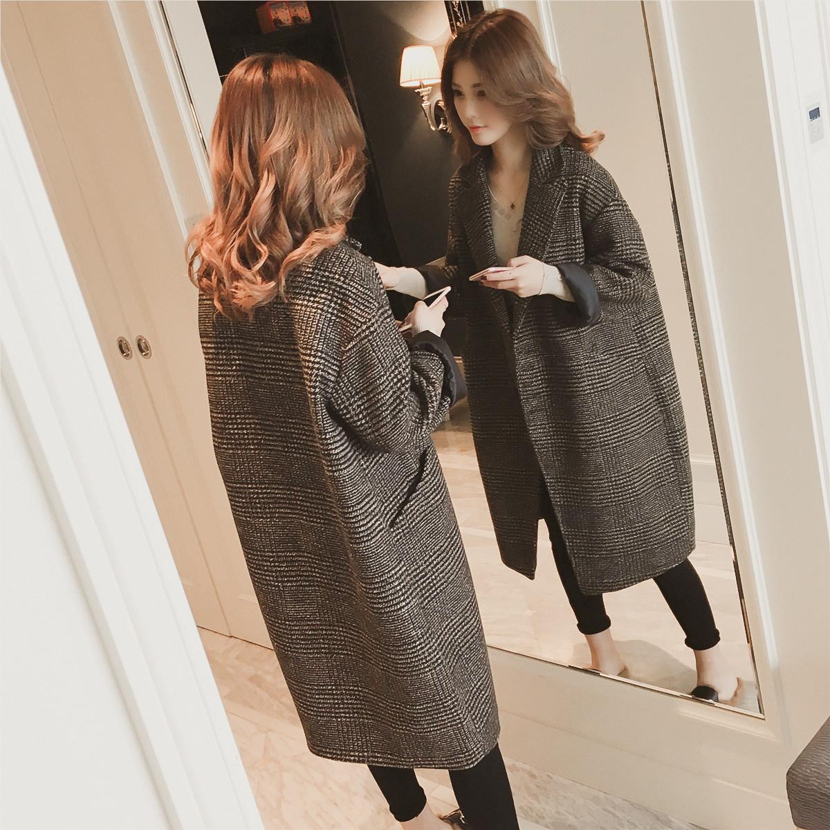 冬季新款茧型呢大衣