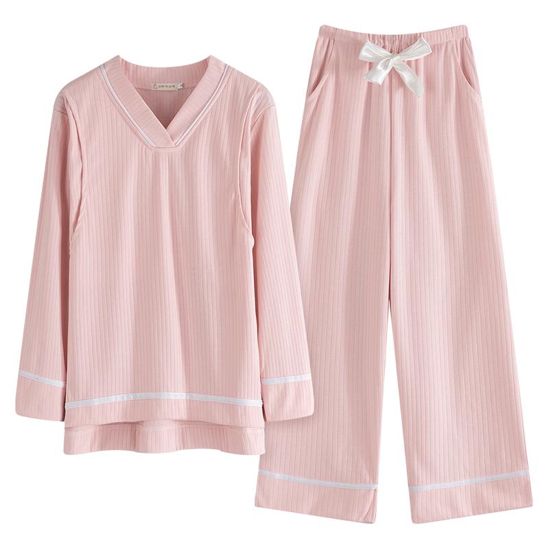 纯棉孕妇睡衣女哺乳衣春秋冬产后产妇春夏季薄款月子服家居服套装