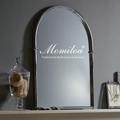 复古黄铜拱形浴室镜镀铬银色金色超高清防雾壁挂北欧玄关梳妆镜