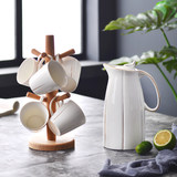 Ceramic Cup Set Water Utensils Cold Water Pot Cup Home Drinking Living Room Creative Nordic Simple Water Pot Tea Cup Set
