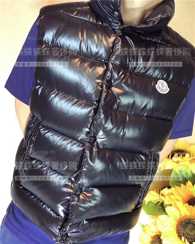 【折扣正品】代购moncler无袖羽绒服男 马甲羽绒背心经典短款外套
