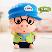 大号可爱动物小猪存钱罐十二生肖储蓄罐创意卡通防摔儿童礼品摆件