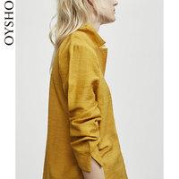 Oysho  黄色薄款衬衫领家居服长袖居家睡衣女夏衬衫31080871305