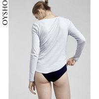 秋冬折扣Oysho 基本款纽扣长袖T恤休闲上衣打底衫女 31898791411