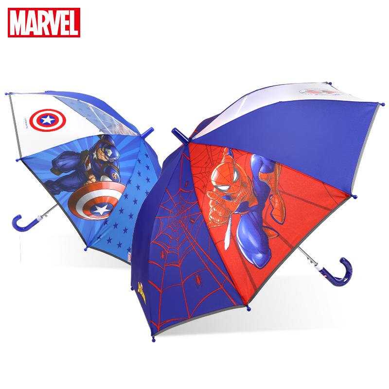 迪士尼儿童雨伞男幼儿园小孩学生宝宝自动漫威蜘蛛侠长柄儿童伞