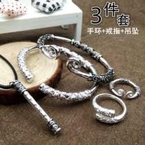 藏式手镯木情侣西藏要藤情侣特价无节鸡雪藤包藏银银头