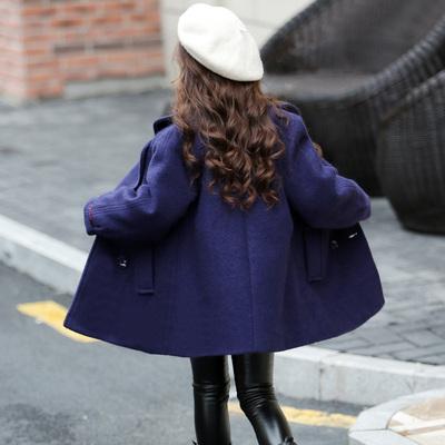女童毛呢外套2017新款韩版公主儿童装冬季夹棉加厚女大童呢子大衣
