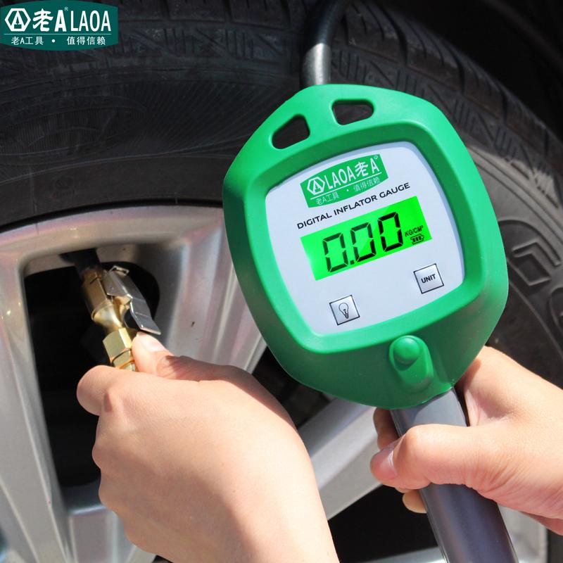 老A数显胎压表 轮胎压力表气压表汽车轮胎监测器胎压计加气打气枪