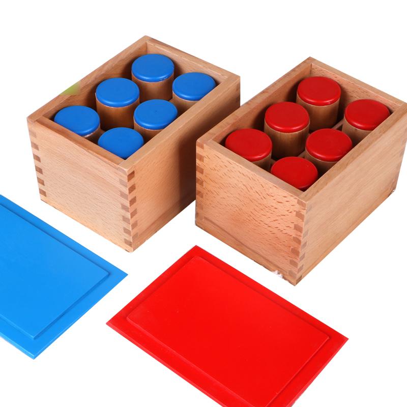 蒙氏蒙特梭利感官教具幼儿园早教玩具1-2-3岁儿童幼儿听觉桶音筒