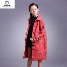女童冬装2018新款儿童装洋气外套大童12岁15女孩韩版呢子大衣秋冬