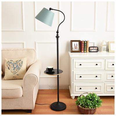 美式欧式怀旧复古置物茶几落地灯客厅卧室书房床头遥控站立式台灯