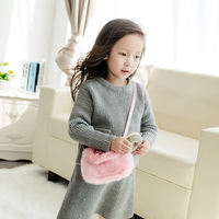 New Year Gifts Children's Bags Girls Bags Korean Princess Crossbody Bags Cute Portable Mini Plush Flower Bag
