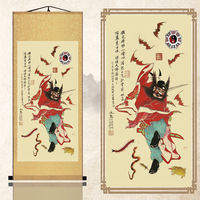 Authentic Feng Shui lucky bells town house evil spirits portrait silk painting decorative scrolls Feng Shui painting