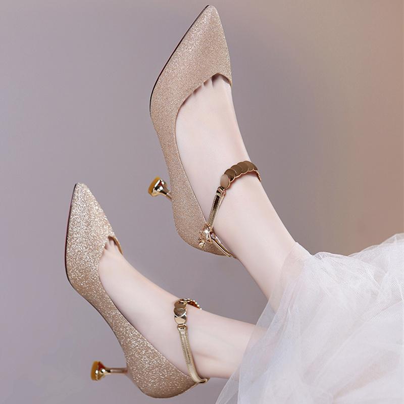 公主夏天高跟鞋