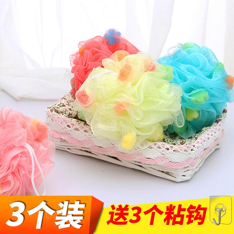 网红洗澡巾沐浴球泡澡球可爱日本搓澡搓背起泡洗浴沐浴花按摩用品