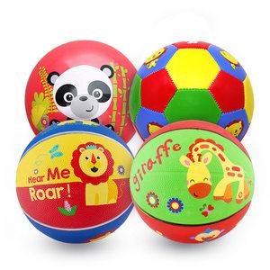 费雪球小皮球拍拍球儿童篮球幼儿园专用婴儿宝宝足球球类玩具男孩