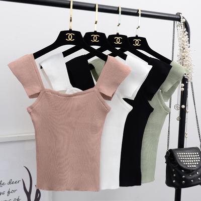 A哚啦小清新吊带上衣女2018夏季新款无袖针织chic小背心外穿5458
