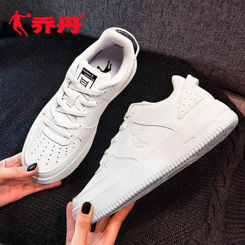 乔丹女鞋运动鞋2019夏季新款休闲鞋男女空军一号厚底板鞋小白鞋女