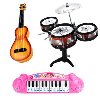 新款儿童架子鼓爵士鼓音乐玩具打击乐器男宝宝早教益智3-14岁Q