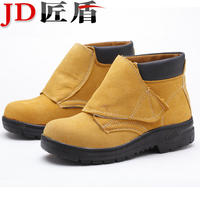 Labor insurance shoes men's electric welder shoes breathable steel Baotou leather work shoes anti-smashing anti-piercing safety shoes