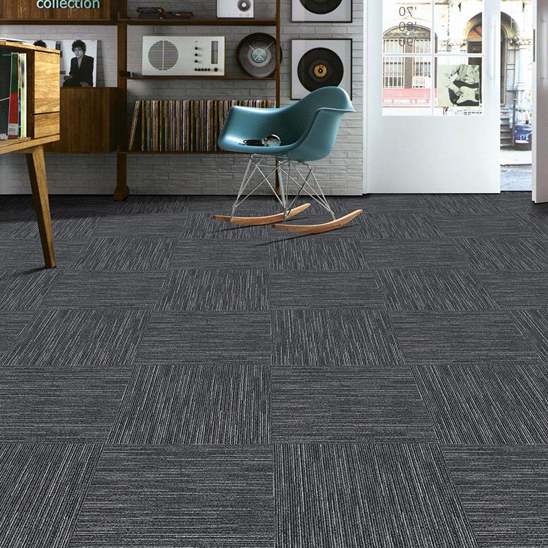 麦香拼接商用方块地毯