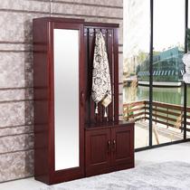 1.3米现代中式门厅柜多功能穿衣镜玄关柜收纳鞋柜衣帽柜组合衣架