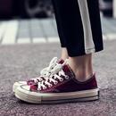 复古chic帆布鞋女夏季2018新款学生韩版百搭原宿风ulzzang板鞋子