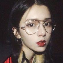 韩版潮复古原宿风ulzzang近视眼镜框女网红款圆脸素颜神器ins金边