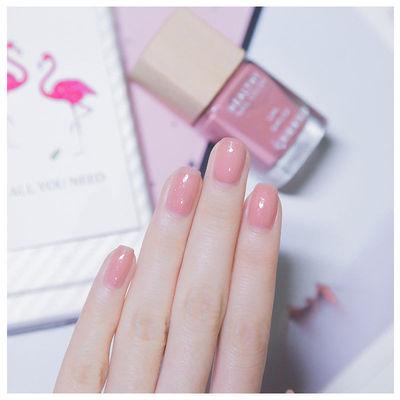淡粉色指甲油