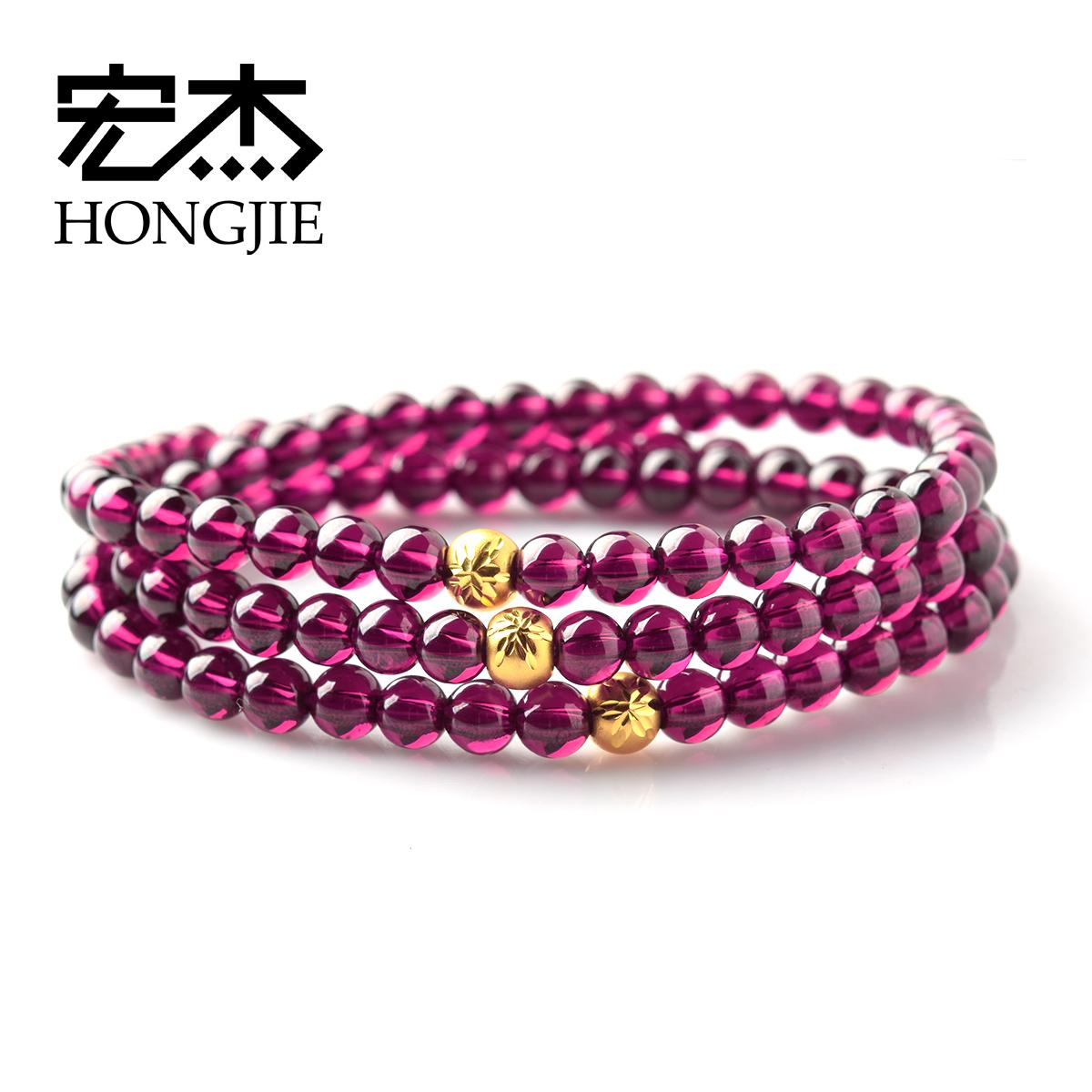 紫牙乌黄金手链