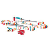Hape mechanical domino launcher set children children puzzle domino blocks wooden toys boys and girls