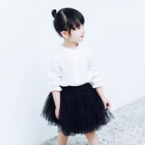 Children's Half-length Skirt Black Girl's Skirt Pengpeng Skirt Korean Screen Skirt Small Gauze Skirt Girl's Short Skirt Half-skirt Pleated
