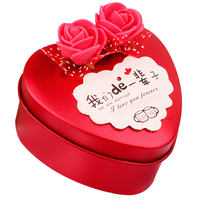 Wedding wedding candy box iron box personalized candy box packaging box creative heart-shaped red European