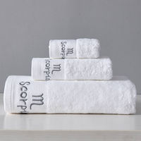 Star hotel towel towel towel cotton adult increase thickening wash water absorbent soft towel three-piece