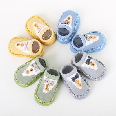 黄小妞春季宝宝学步鞋袜 男女婴儿防滑软底袜 儿童皮底地板袜
