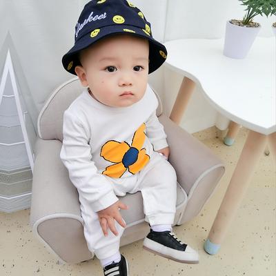 婴儿新年喜庆连体衣服女宝宝新生儿0岁4个月纯棉秋冬季冬装睡衣