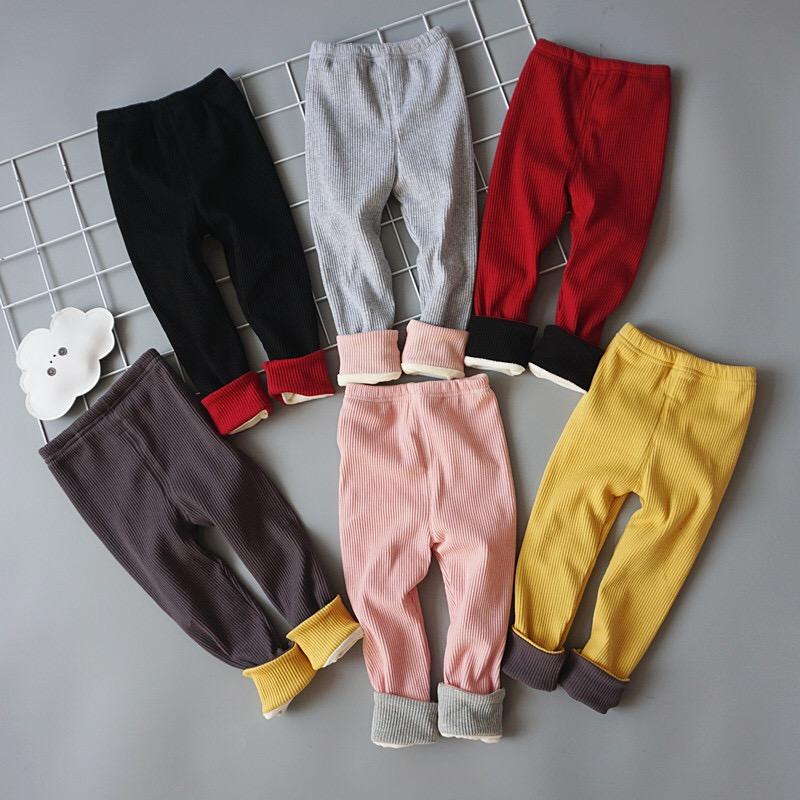 儿童冬季糖果色裤子