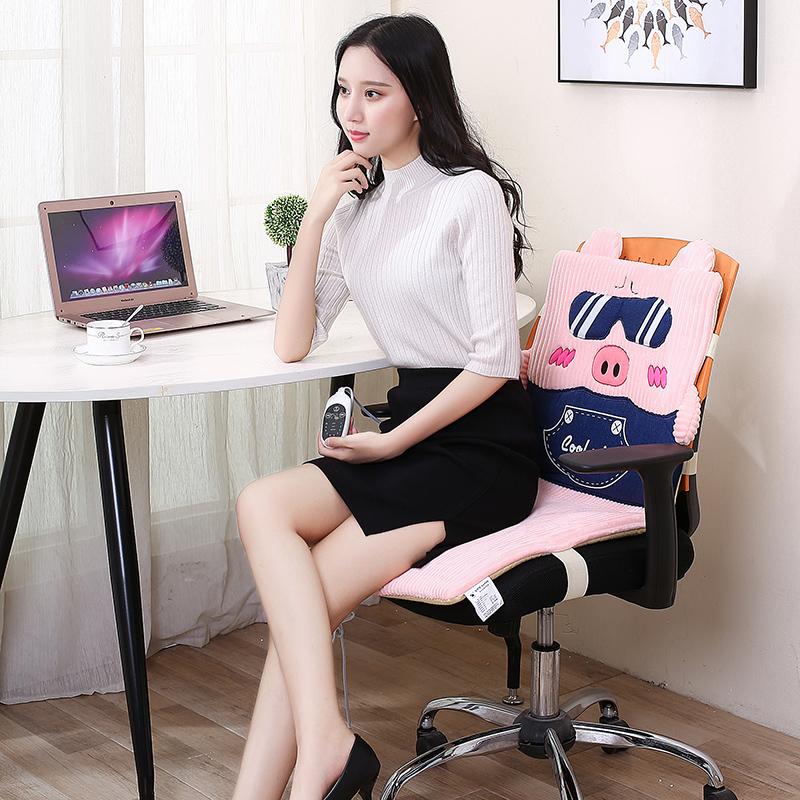 友贝嘉可拆洗电热坐垫加热椅垫 发热椅垫靠暖垫插电办公室
