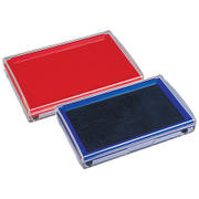 Deli India Taiwan rubber stamp pad red fast drying pad black large printing oily ink pad box blue printing Taiwan financial finger printing pad small portable fast drying ink box