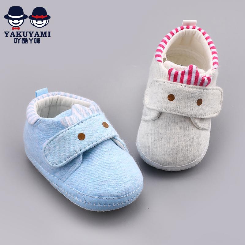 0-6个月婴儿手工布鞋加厚绒棉鞋男1岁3-12软底宝宝步前鞋女冬软底