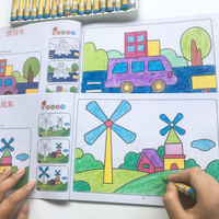 Young children coloring book baby learning painting 3-4-5-6 years old kindergarten enlightenment graffiti coloring book