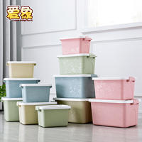 Transparent plastic storage box multi-function portable sundries snack storage box toy clothing small storage box three-piece