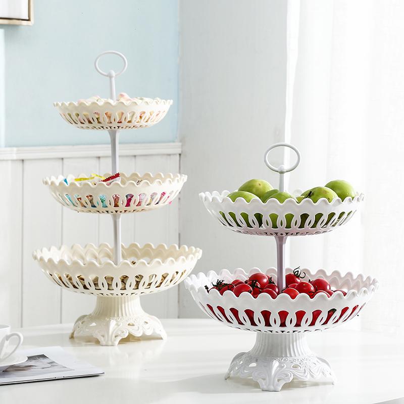 水果盘客厅茶几创意现代家用小精致网红北欧风格多层零食盘水果篮