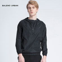 Baleno Banny Road 2018 New Thin Windshirt Men's Black Hat Pullovers Sports Coat X