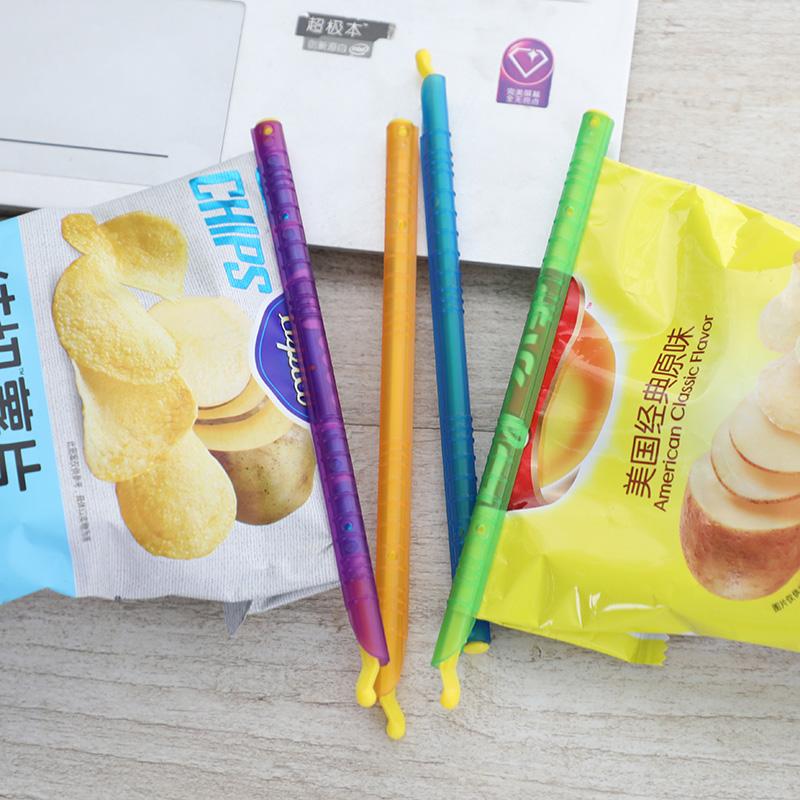 米木新品 彩色保鲜封口棒 食物保鲜封口夹 茶叶咖啡密封夹子