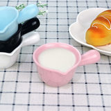 Colored with handle Japanese small milk bottle ceramic yogurt pot milk pot small milk spoon coffee cup ware dressing cup dish