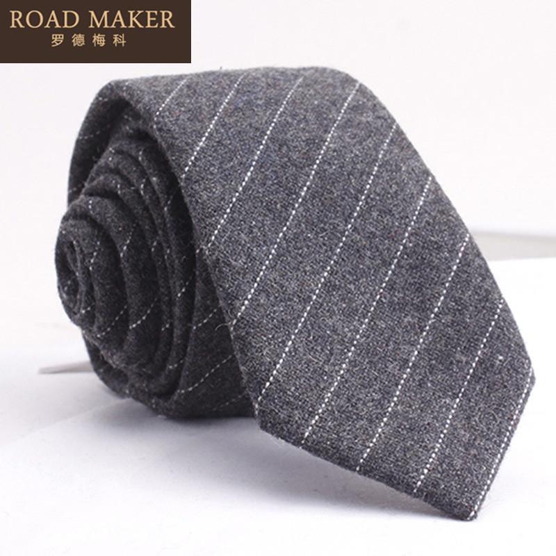 男士新款休闲色织小条纹领带斜纹提花领带 2017 罗德梅科