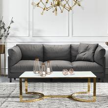 北欧乳胶沙发小户型三人整装客厅家具现代简约可拆洗布艺沙发组合