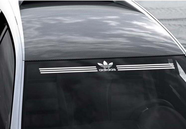 三叶草前挡风玻璃车贴 个性潮流后档贴纸 运动品牌汽车装饰拉花