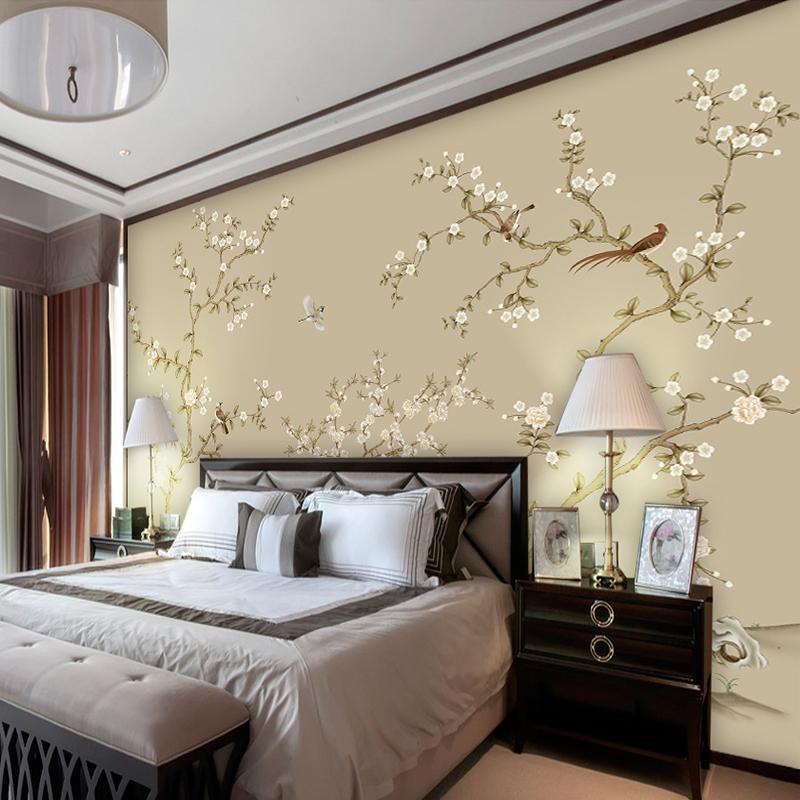 客厅卧室影视墙壁画壁布 泼墨中式壁纸 黑白山水墙纸电视背景墙布